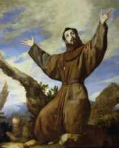 St. Francis rolled in the snow to preserve his purity.