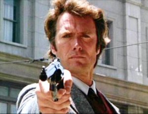 """Dirty Harry dealing out justice. """"Do you feel lucky?"""""""