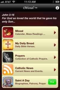 The popular iMissal app